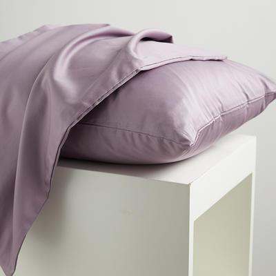 2020新款60纯色长绒棉枕套 单品 48cmX74cm 水紫