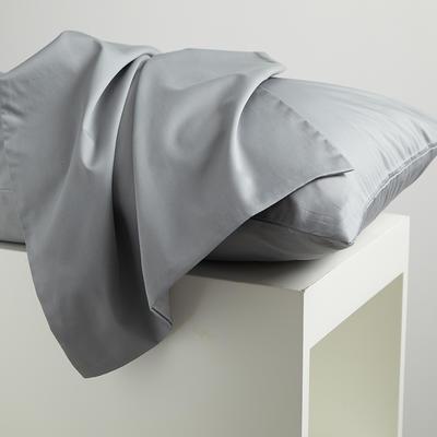 2020新款60纯色长绒棉枕套 单品 48cmX74cm 无尽灰