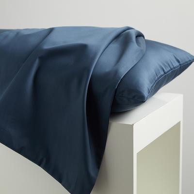 2020新款60纯色长绒棉枕套 单品 48cmX74cm 星蓝