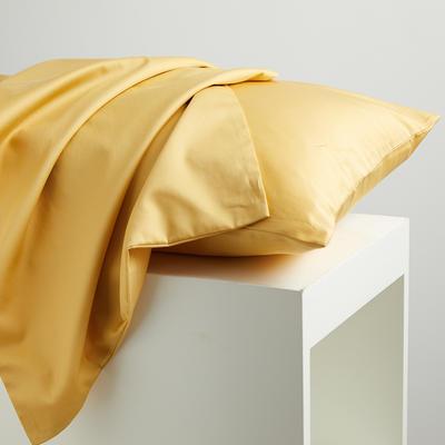 2020新款60纯色长绒棉枕套 单品 48cmX74cm 玉米黄