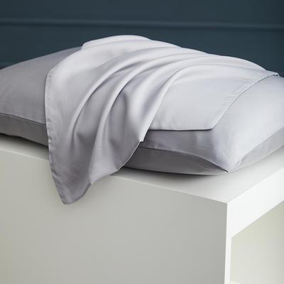2020新款 天丝枕套 单品 48cmX74cm 烟灰