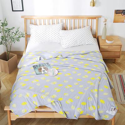 2020新款A类母婴级针织棉凉感夏被 150x200cm 柠檬
