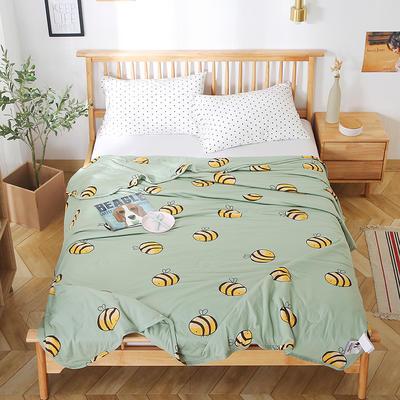 2020新款A类母婴级针织棉凉感夏被 150x200cm 小蜜蜂