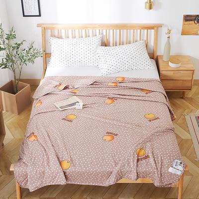 2020新款A类母婴级针织棉凉感夏被 150x200cm 星星甜橙