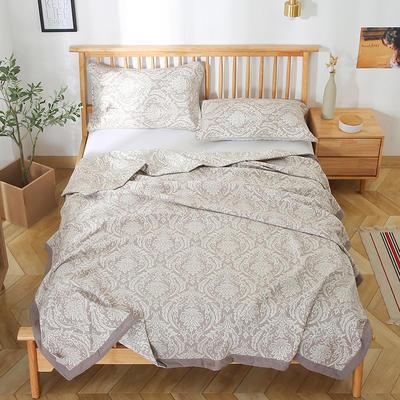2020新款纯棉纱针织盖毯布毛巾被夏被  枕巾 150x200cm 格调