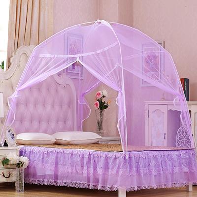 【文不叮】简易T型蒙古包蚊帐 100*195*135 紫色