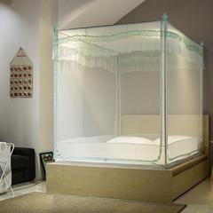 【文不叮】U型防蚊布超柔坐床式蚊帐——梦醒时分 150*195*170 水蓝