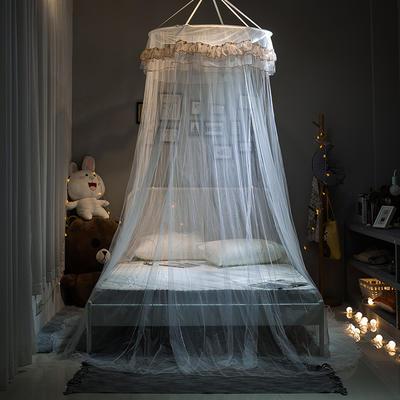 【文不叮】圆形小吊顶蚊帐——桃花源 1.5米床用 米黄