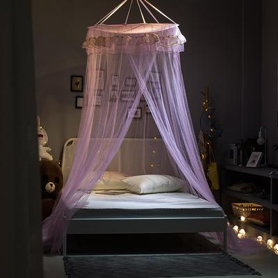 【文不叮】圆形小吊顶蚊帐——桃花源 1.5米床用 粉红