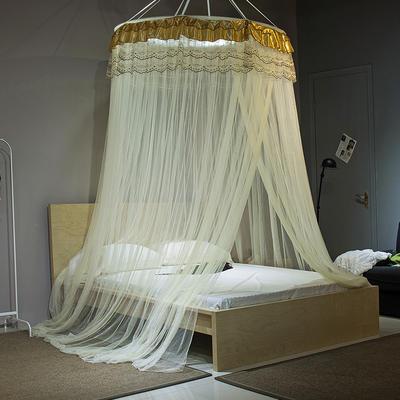 【文不叮】圆形中吊顶蚊帐——伊甸园 2.0米床用 紫色