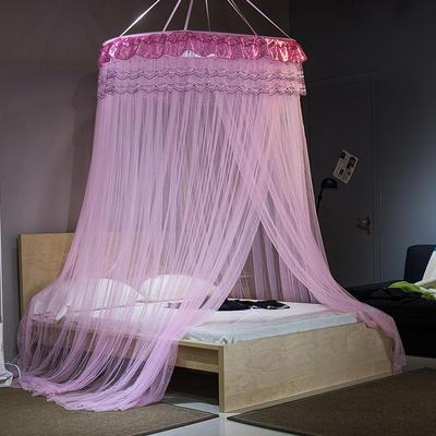 【文不叮】圆形中吊顶蚊帐——伊甸园 2.0米床用 粉红