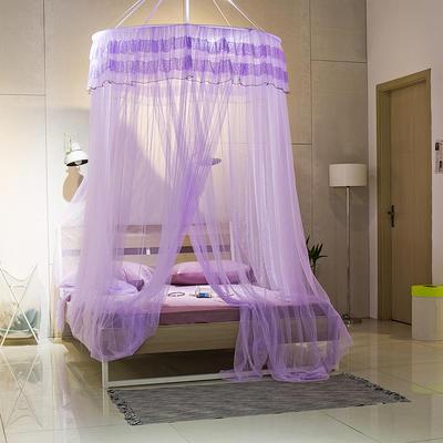【文不叮】圆形中吊顶——御花园 2.0米床用 紫色