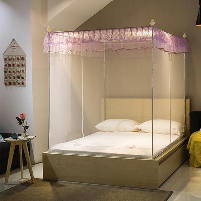 【文不叮】T行双开门坐床式蚊帐——小清新 150*195*150 白色