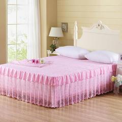 【文不叮】韩版蕾丝床裙——101 120cmx200cm 粉红