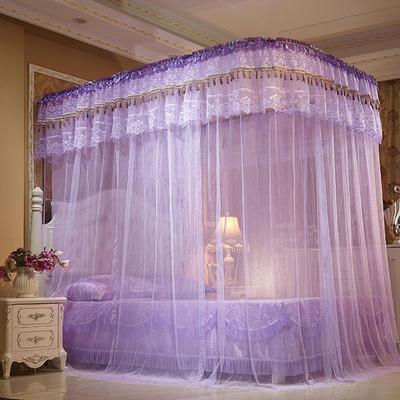 【文不叮】豪华拉幕式导轨蚊帐——皇家盛典 200*220*210cm 紫色
