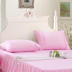 【文不叮】蕾丝枕套 48cmX74cm 粉红