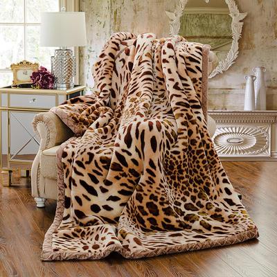 【文不叮】超柔拉舍尔毛毯系列 150*200(5斤) 激情豹纹