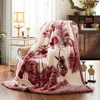 【文不叮】超柔拉舍尔毛毯系列 150*200(4斤) 出水芙蓉