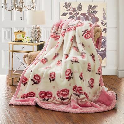 【文不叮】超柔拉舍尔毛毯系列 150*200(5斤) 静听花语