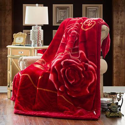 【文不叮】超柔拉舍尔毛毯系列 150*200(4斤) 真爱一生