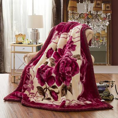 【文不叮】超柔拉舍尔毛毯系列 150*200(4斤) 倾城之恋