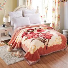 【文不叮】超柔拉舍尔毛毯系列 150*200(4斤) 清雅花香