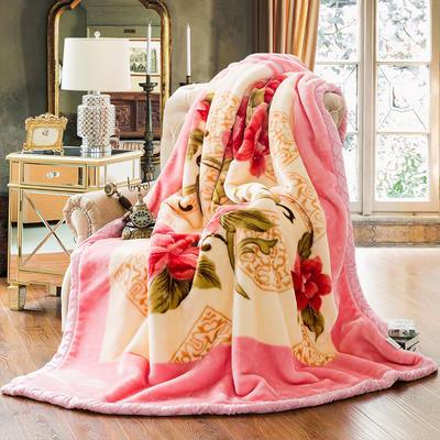 【文不叮】超柔拉舍尔毛毯系列 180*220(6斤) 花团锦簇