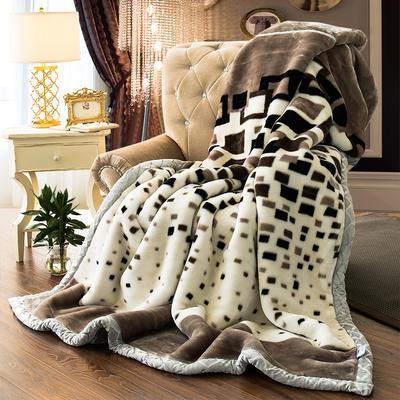 【文不叮】超柔拉舍尔毛毯系列 150*200(4斤) 悠兰格调