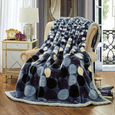 【文不叮】超柔拉舍尔毛毯系列 150*200(5斤) 魔力圈圈