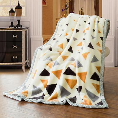 【文不叮】超柔拉舍尔毛毯系列 150*200(4斤) 温情格语