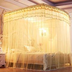 【文不叮】豪华钓鱼竿蚊帐——皇家不列颠 1.5m(5英尺)床 粉红