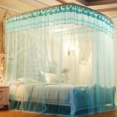 【文不叮】豪华钓鱼竿蚊帐——皇家不列颠 1.5m(5英尺)床 水蓝