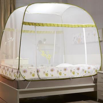 【文不叮】钢丝全自动大方顶坐床蚊帐——铃兰雨