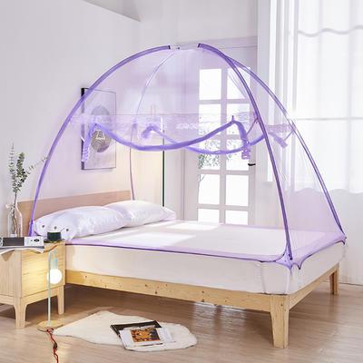 2020新款免安装蒙古包801A魔术蚊帐 1.2米床 紫色