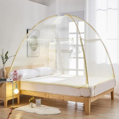 2020新款免安装蒙古包801A魔术蚊帐 1.2米床 米黄