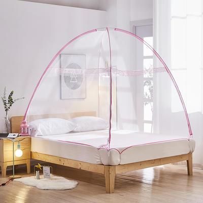 2020新款免安装蒙古包801A魔术蚊帐 1.2米床 白色