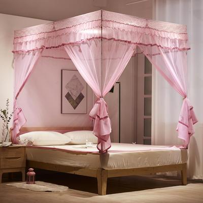 2020新款坐床式浪漫大定蚊帐8018D若枫 1.2米床(不含包装) 粉红