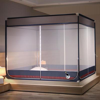2021新款T型多功能防蚊床笠款坐床蚊帐(宇宙梦想系列)(A类) 1.8m*2.0m 宇宙梦想-深海蓝