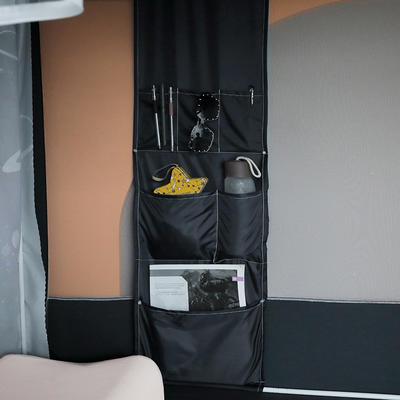 2021新款学生坐床循环花遮光蚊帐 190*80*90cm下铺(单开门) 功能袋