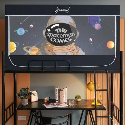 2021新款学生坐床定位花遮光蚊帐 190*80*110cm上铺 星际探索我来了