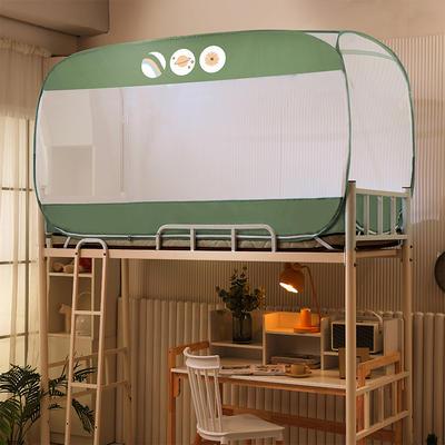 2021新款免安装学生大顶钢丝蚊帐 90*190*100cm 橄榄树