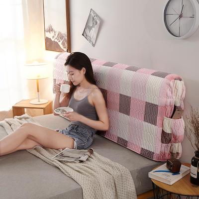 2019新款超柔印花加厚床头罩 1.2m 经典一号-粉