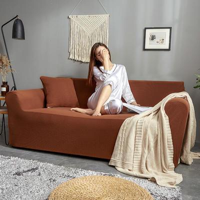 2019新款针织加厚美芙条沙发套 90*140一人 优雅橙