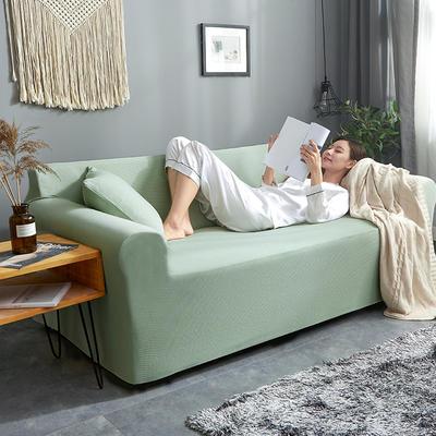 2019新款针织加厚美芙条沙发套 90*140一人 达芬奇绿
