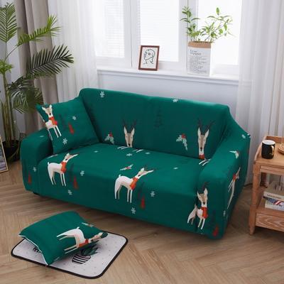 2019新款万能沙发套 1人90×140 快乐小鹿