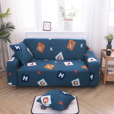2019新款万能沙发套 1人90×140 色彩字母