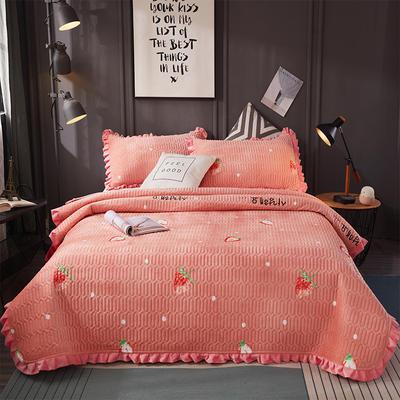 2019新款水晶绒夹棉床盖 150cmx200cm 莓莓物语