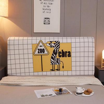 2020新款大版数码印花高弹床头罩 1.2m 动物乐园