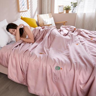 2020新款天丝莫代尔绣花夏被 200X230cm 告白气球 粉色