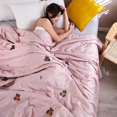 2020新款天丝莫代尔绣花夏被 200X230cm 尤克里里 粉色
